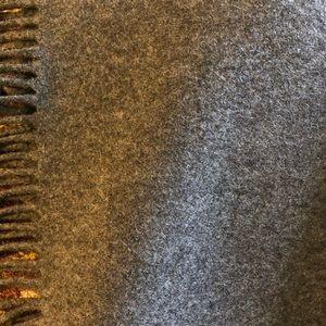 Banana Republic Bedding - Like-New Charcoal Grey Cashmere Throw